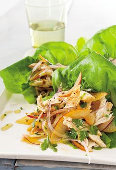 Lettuce Cups with Chicken and Peach Salsa   Men's Health