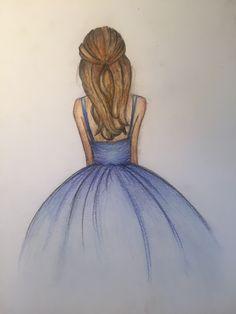 Girl Drawing Sketches, Girly Drawings, Sketchbook Drawings, Art Drawings Sketches Simple, Pencil Art Drawings, Drawing Ideas, Sketching, Doodle Art Drawing, Painting & Drawing