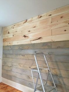 Pallet wall diy wooden plank wall wood plank walls staining a plank wall with milk paint . Diy Wand, Mur Diy, Ship Lap Walls, Milk Paint, Wood Planks, Wood Plank Ceiling, Pallet Ceiling, Shiplap Ceiling, Beautiful Bedrooms