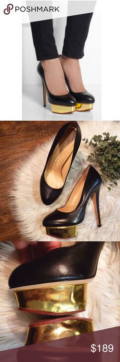90d5de71dc7 Charlotte Olympia Dolly Leather Platform Pumps Charlotte Olympia Dolly  Leather Platform Pumps. In Great Used