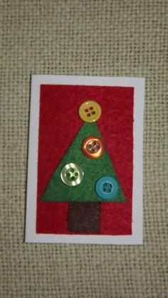 Christmas card Christmas Cards, Christmas Tree, Holiday Decor, Artist, Handmade, Home Decor, Christmas Greetings Cards, Homemade Home Decor, Hand Made
