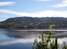 Thanks to winter rainfall, the water level is high at Lake Mendocino near Ukiah in Mendocino County.
