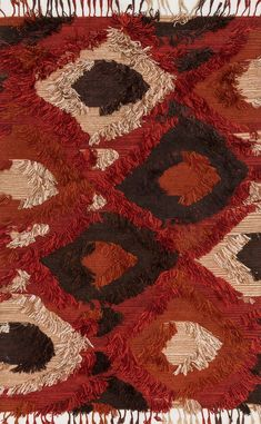 Loloi Fable Spice Area Rug-Known for her colorful bohemian style, designer Justina Blakeney's hand-woven Fable Collection from India is an imaginative spin on the regular flat weave rug. These pieces are crafted of wool and viscose with the end Justina Blakeney, Red Rugs, Rugs Online, Woven Rug, Bohemian Rug, Bohemian Style, Boho Decor, Boho Chic, Hand Weaving