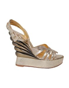 Terry De Havilland Margave Wedge Shoes, side front