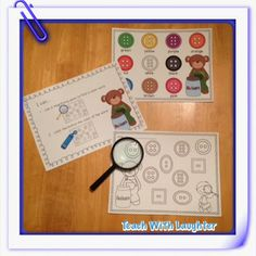 I Spy Color Words - practice color words with a magnifying glass. Fun stuff!