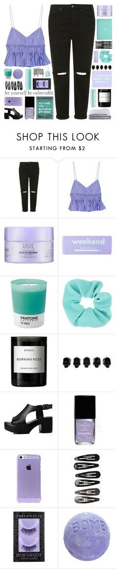 """""""let yourself be vulnerable"""" by untake-n ❤ liked on Polyvore featuring Topshop, Tod's, Alterna, claire's, Pantone, Byredo, D.L. & Co., Chanel, Clips and Urban Decay"""