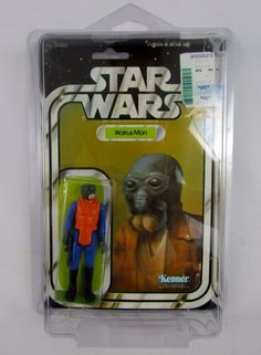 Vtg 1979 Kenner STAR WARS Walrus Man MOC 21 Card Back Offerless Clear Bubble Toy #Kenner