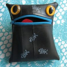 Recycled Tire Monster Coin Purse