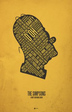 The Simpsons.  Typographic posters by Jerod Gibson.