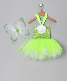 Lime Green Fairy Dress & Wings - Infant by Tutu Mania on #zulily