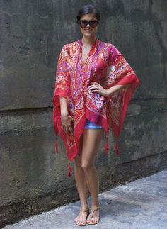 a pair and a spare . diy fashion: DIY TRIBAL PRINT KIMONO