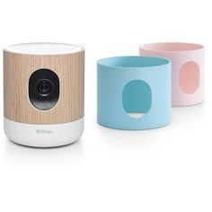 Enjoy a secure HD video Wifi baby monitor with endless range that features viewing, advanced controls and notifications right on your smartphone or tablet with the Home app. Easy set-up gives access to all features including noise & motion detection, HD live stream, air quality, two-way talk, Night Vision, Lulla light & music programs. Modern neutral friendly design also includes two additional covers (pink & blue) to complement any decor. Instant audio and motion alerts right to ...