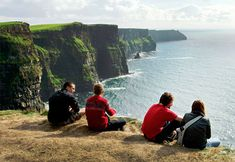 ~DOOLIN, IRELAND~  Cliffs of Moher.  Vertical walls of rock mark the spot where County Clare meets the Atlantic.