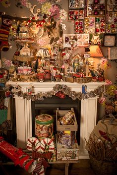 Santa's Christmas Village on the Fireplace by kbo, via Flickr