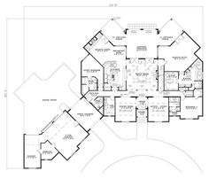 floor plan first story porte cochere and porches - French Country House Plans With Porte Cochere