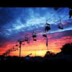 Sunset at the Iowa State Fair