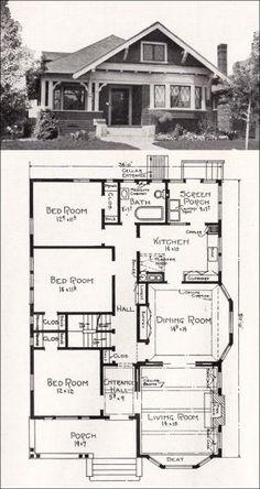 Transitional Bungalow Floor Plan