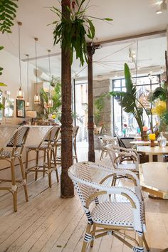 Coffee Shop Interior Design, Coffee Shop Design, Restaurant Interior Design, Cafe Design, Bohemian Restaurant, Bar Restaurant, Restaurant Concept, Restaurant Tables And Chairs, Juice Bar Interior