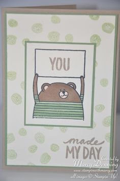 Stampin' Up! Cheerful Critters & Best Day Ever Details on my blog, www.stampinwithmarcy.com