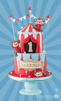 Little Cherry Cake Company Carnival Birthday Cakes, Circus Theme Cakes, Carnival Cakes, Circus Theme Party, Circus Birthday, First Birthday Cakes, Themed Cakes, Circus Wedding, Carnival Costumes