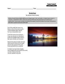 The poem my lost youth grade worksheet see more lesson planet poetry