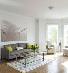 Teppich Zick Zack Weiß-Schwarz Wohnzimmer Einrichtungsideen