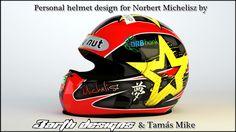 Helmet for Norbert Michelisz, WTCC's 2012 private champion Custom Helmets, Helmet Design, Motor Car, Auto Motor, Budapest, Champion, Car, Automobile