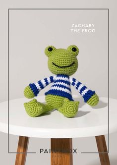 Zachary the Frog in Paintbox Yarns Simply DK - DK-Cro-Toy-011 - Downloadable PDF. Discover more patterns by Paintbox Yarns at LoveKnitting. The world's largest range of knitting supplies - we stock patterns, yarn, needles and books from all of your favour