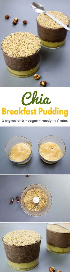 Chia Breakfast Pudding - Only 5 ingredients and surprisingly, it's vegan!| hurrythefoodup.com
