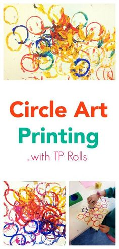 Great Toddler or Preschool Art idea! Sometimes the best ideas are the most simple! Explore circles with this easy - cheap to set up - craft activity