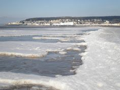 A frozen sea at Weston-super-Mare. Picture by Martin Bewley