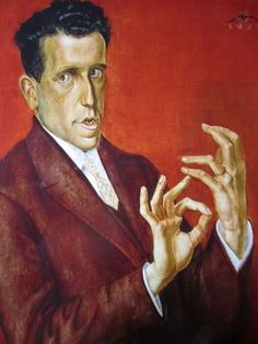 Otto Dix (1891-1969): Portrait of the Lawyer Hugo Simons (1925). Oil on canvas. Montreal Fine Arts Museum. Simons won a court case for Dix, who painted this portrait in gratitude.  After the Nuremberg Laws deprived Simons of his German citizenship, he emigrated and  settled in Montreal, taking this portrait with him. He kept it for the rest of his life. KA