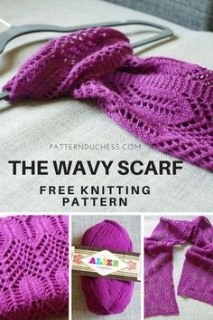 Free Lace Knitting Pattern The Wavy Scarf