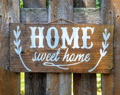 Home Sweet Home  Home Sweet Home Sign  Rustic Wooden by EightPalms