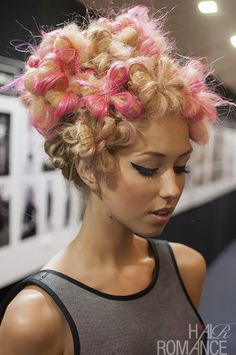 Hair Romance - Big Hair Friday - flowers made of hair by Lorna Evans