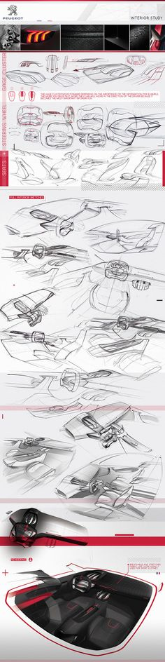 Peugeot Interior by Lienhart Thomas, via Behance