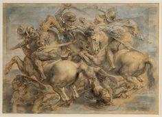 Peter Paul Rubens - The Battle of Anghiari (copy of the lost Leonardo da Vinci painting), Leonardo, Rubens, Da Vinci Drawings, Peter Paul Rubens, Michelangelo, Da Vinci Painting, Renaissance Art, Davinci, Art