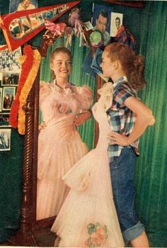 Dress Me Dearly: Wear the Corsage. and other advice for the teenage daughter I… Vintage Prom, Vintage Love, Vintage Photos, Vintage Dresses, Retro Vintage, Vintage Outfits, Vintage Fashion, Vintage Style, Archie Comics