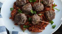 Cocktail Mediterranean Lamb Meatballs