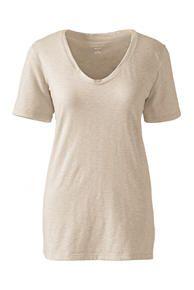 Relaxed Slub Jersey V-neck T-shirt