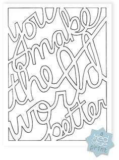 """Better World"" free greeting card free printable + cut file"