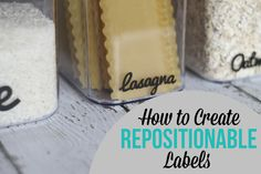 How to create labels that you can remove and re-use!