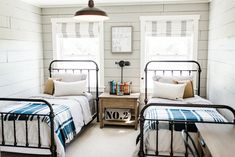 The story behind the Beautiful Chaos Farmhouse Renovation! Before and afters of our home in Independence, MN. We'll soon be on the cover of Modern Farmhouse Magazine! Girls Bedroom, Room, Shared Bedroom, Home Bedroom, Home Decor, Shared Boys Rooms, Twin Beds For Boys, Boys Shared Bedroom, Bedroom
