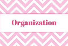 Tons of organizational ideas!