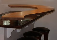White Oak curved counter top!