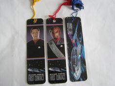 Star Trek First Contact movie bookmark lot set of 3 Data Worf Enterprise