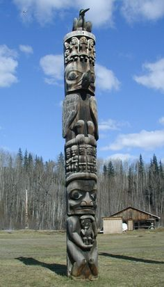 http://www.questconnect.org/ak_photo_gitksan_totems.htm  People rows and big person holding little person.