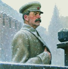 El Camarada Stalin (Речь товарища Сталина, 1941) Aleksandr Ivanovich Laktionov (Алекса́ндр Ива́нович Лактио́нов. Unión Soviética. Rusia, 1910-1972)