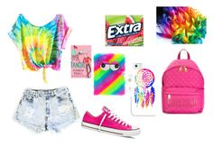"""""""Wacky Wednesday"""" by sparkle-septiceye ❤ liked on Polyvore featuring Levi's, Moschino, Converse and Casetify"""