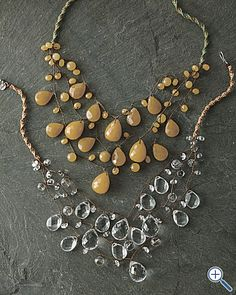 Chan Luu three-strand bauble necklace was $188 at garnethill (not avail as of jan 2012)